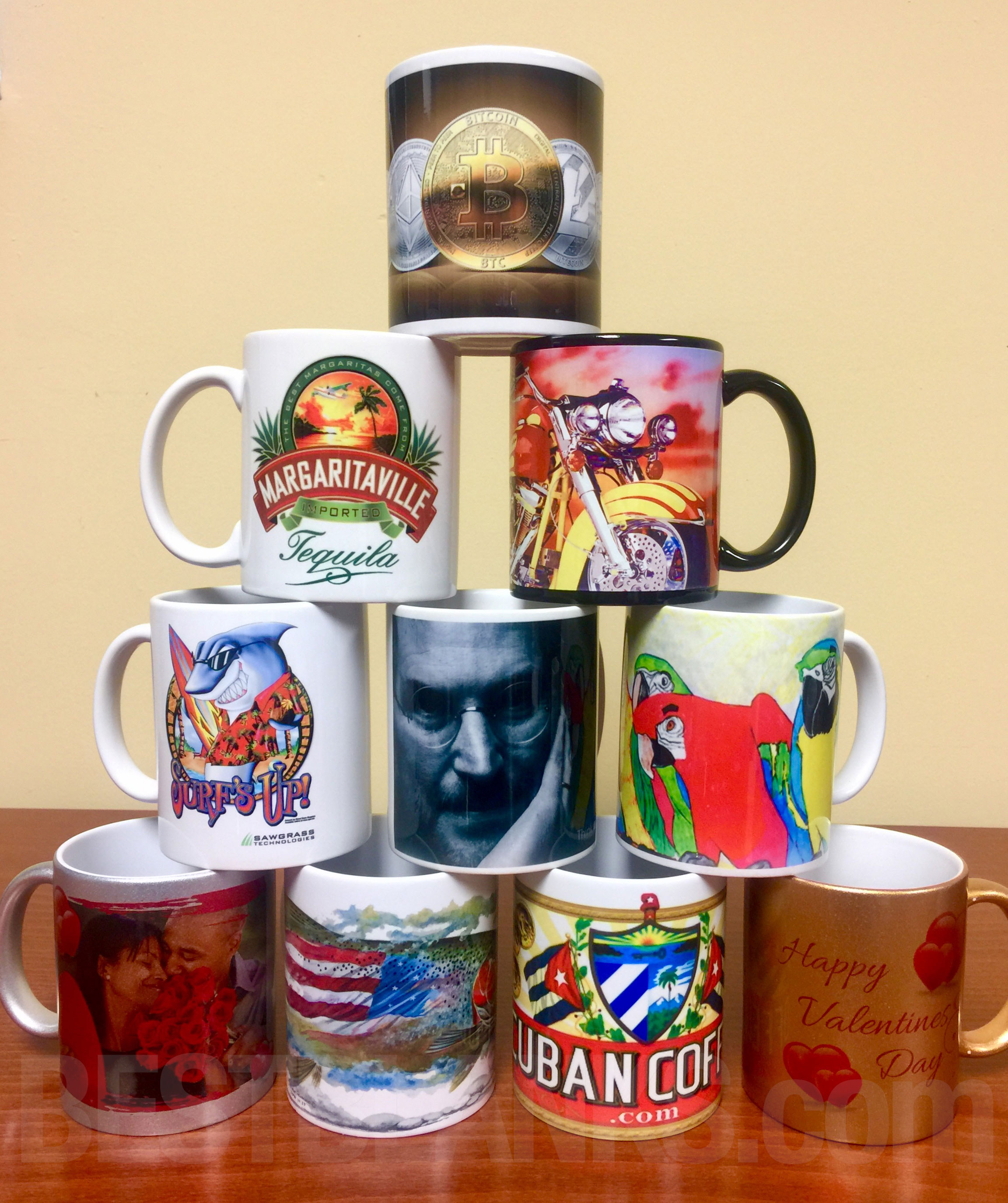 sublimating ceramic mugs with sublimation printing