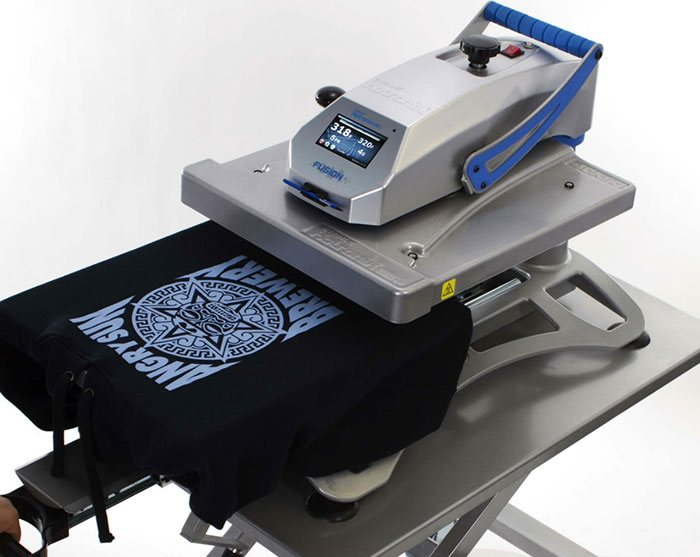 With our beginner's guide to heat press machines, you'll be able to start making heat pressed t-shirts like this one in no time! Featured here: Hotronix Fusion IQ Heat Press