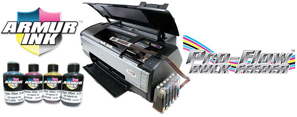 Armurink heat transfer ink with bulk ink systems for epson printers