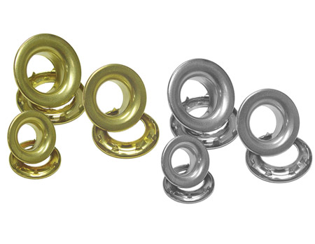 Grommets Brass or Nickel Plated