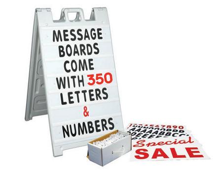 Message Board Kit White