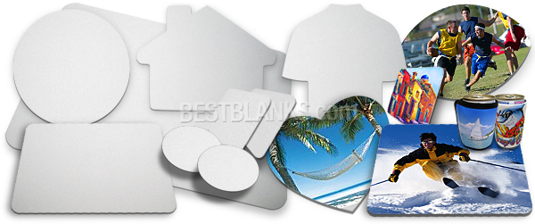 Sublimation Blank Mouse Pads Coasters Placemats Can