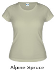 Vapor Apparel Basic Ladies Classic T - Alpine Spruce