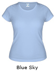 Vapor Apparel Basic Ladies Classic T - Blue Sky