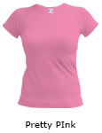 Vapor Apparel Micro-Fiber Ladies Loose Fit Compression Vela - Pretty Pink