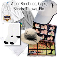 Vapor Bandanas, Caps, Shorts, Throws, Etc.