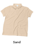 Vapor Apparel Basic Mens Polo Shirt - Sand