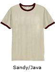 Vapor Apparel Mens Ringer Short Sleeve T Shirt - Sandy Java