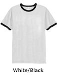 Vapor Apparel Mens Ringer Short Sleeve T Shirt - White Black