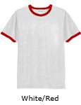 Vapor Apparel Mens Ringer Short Sleeve T Shirt - White Red