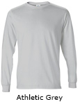 Vapor Apparel Mens Solar Performance Long Sleeve T Shirt - Athletic Grey