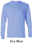 Vapor Apparel Mens Solar Performance Long Sleeve T Shirt - Sky Blue