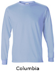 Vapor Apparel Mens Solar Performance Long Sleeve T Shirt - Columbia