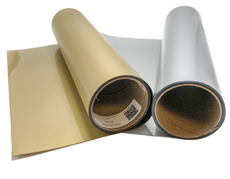ThermoFlex Plus Heat Transfer Vinyl - Antique Silver and Old Gold