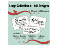 Vinyl Ready Designs Large Collection 1-144 Designs