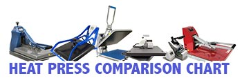 Heat Press Comparison Chart