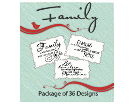 Vinyl Ready Designs Family Package - 36 Designs