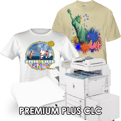 Premium plus clc laser transfer paper for laser printers for Laser printing machine for t shirts