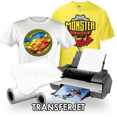 inkjet transfer paper Inkjet printers are not capable of printing white so, anywhere that the image requires white, the garment's existing colour shows through the mirror of the image is printed on the paper when it is transferred, the result is the mirror of the mirror (the original) results inkjet transfer paper for dark garments.