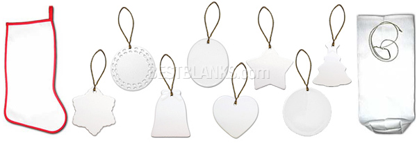 Ceramic Ornaments Stocking Stuffer Wine Bag