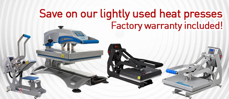 Save on our lightly used heat presses