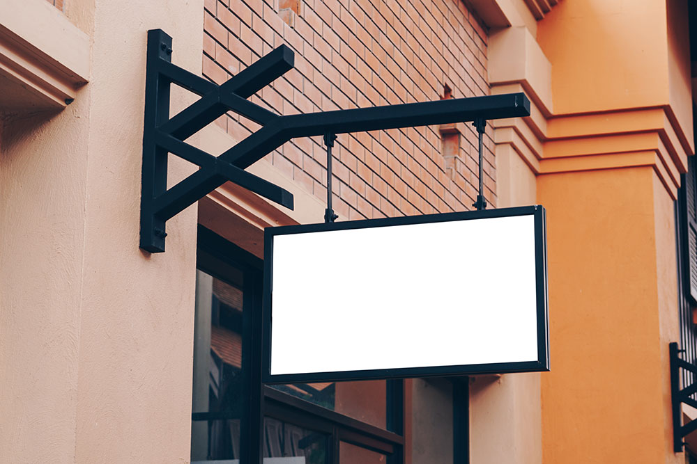 Retail Sign Blank